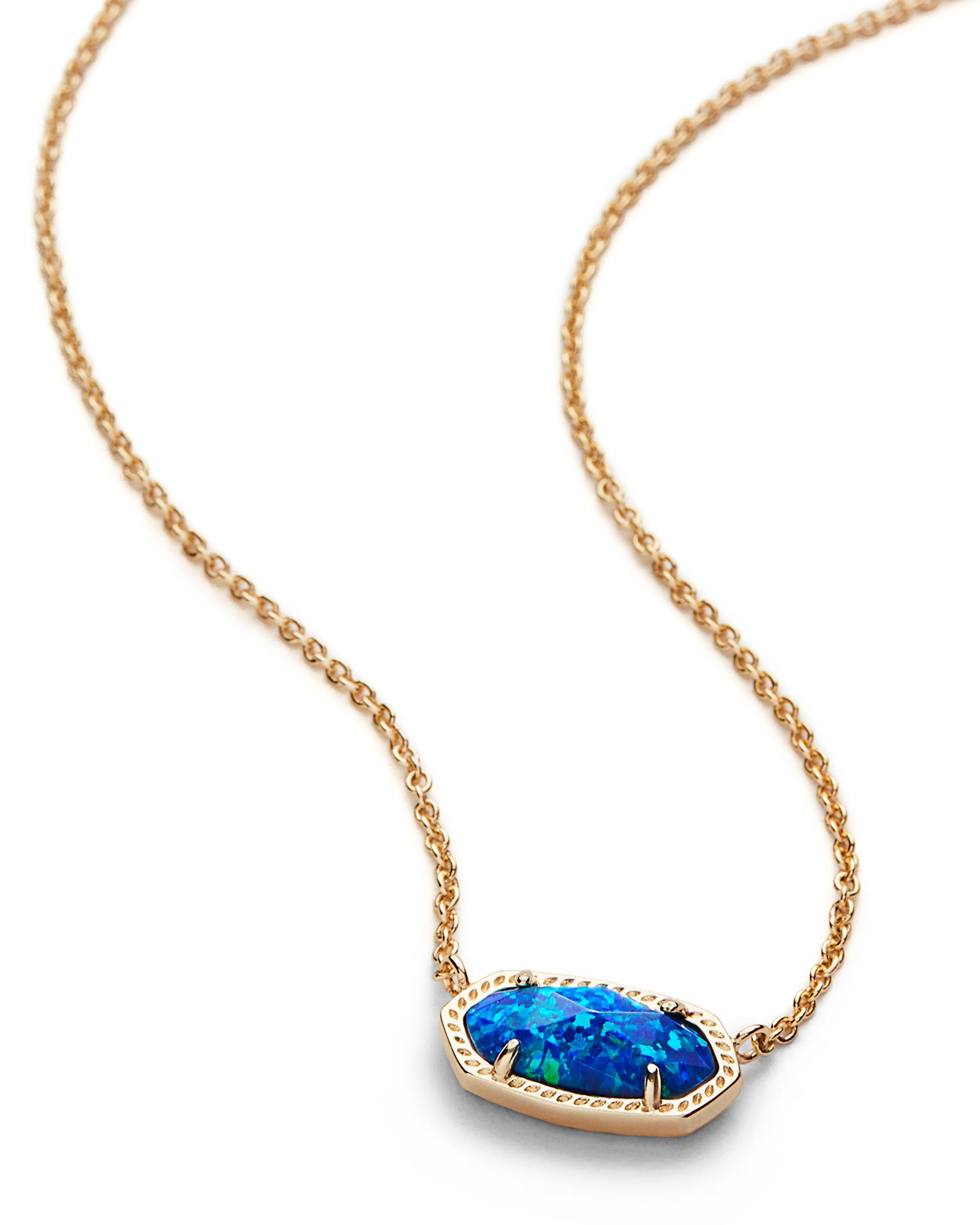 Elisa gold pendant necklace royal blue opal kendra scott elisa pendant necklace in royal blue kyocera opal mozeypictures Choice Image