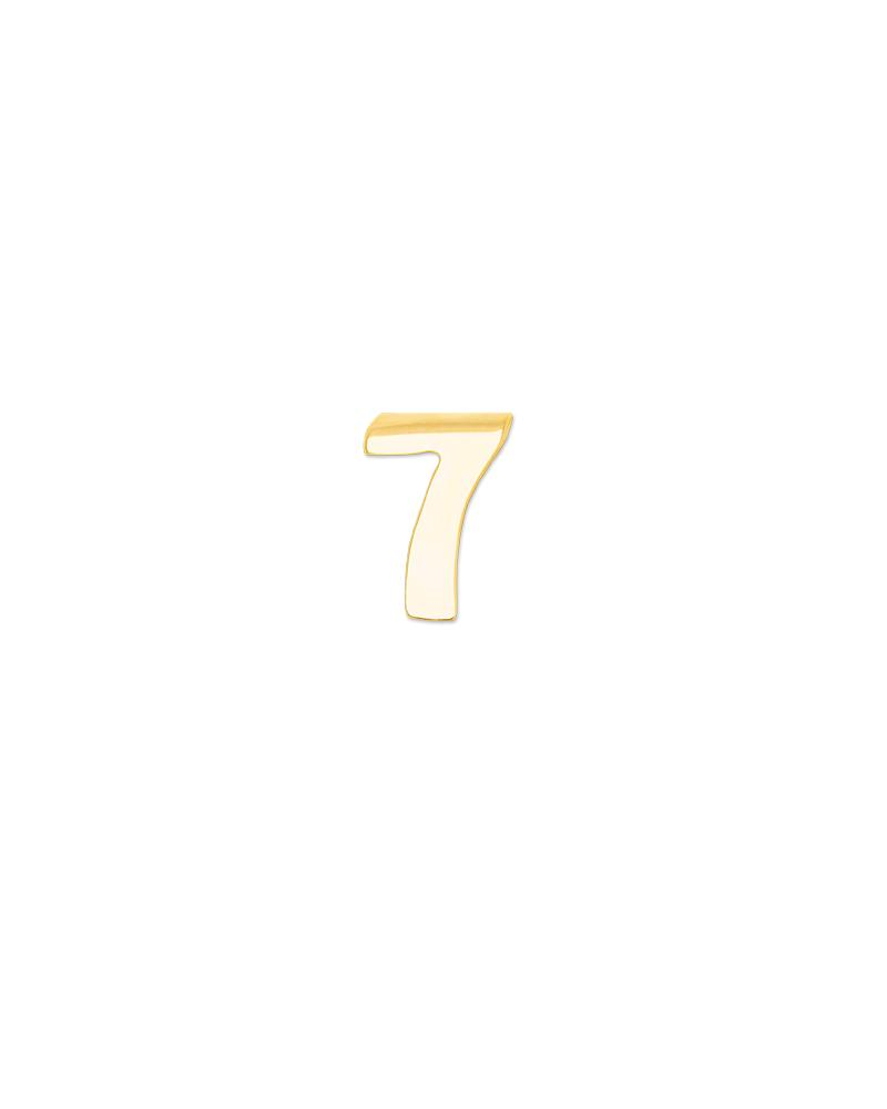 Number 7 Charm - Gold