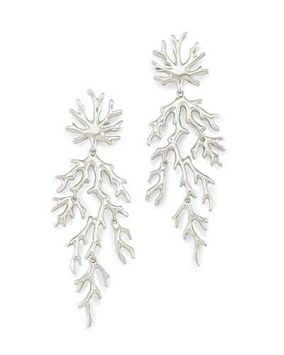 Aviana Statement Earrings in Silver