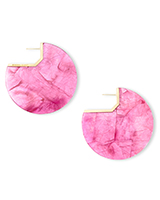 Kai Gold Hoop Earrings in Azalea Illusion