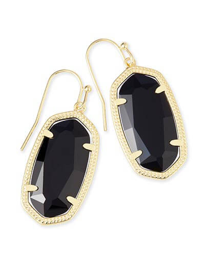 Dani Gold Earrings in Black