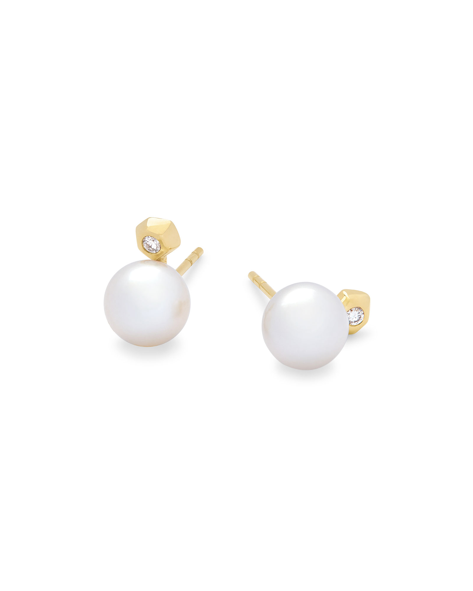 Cathleen 14k Yellow Gold Stud Earrings
