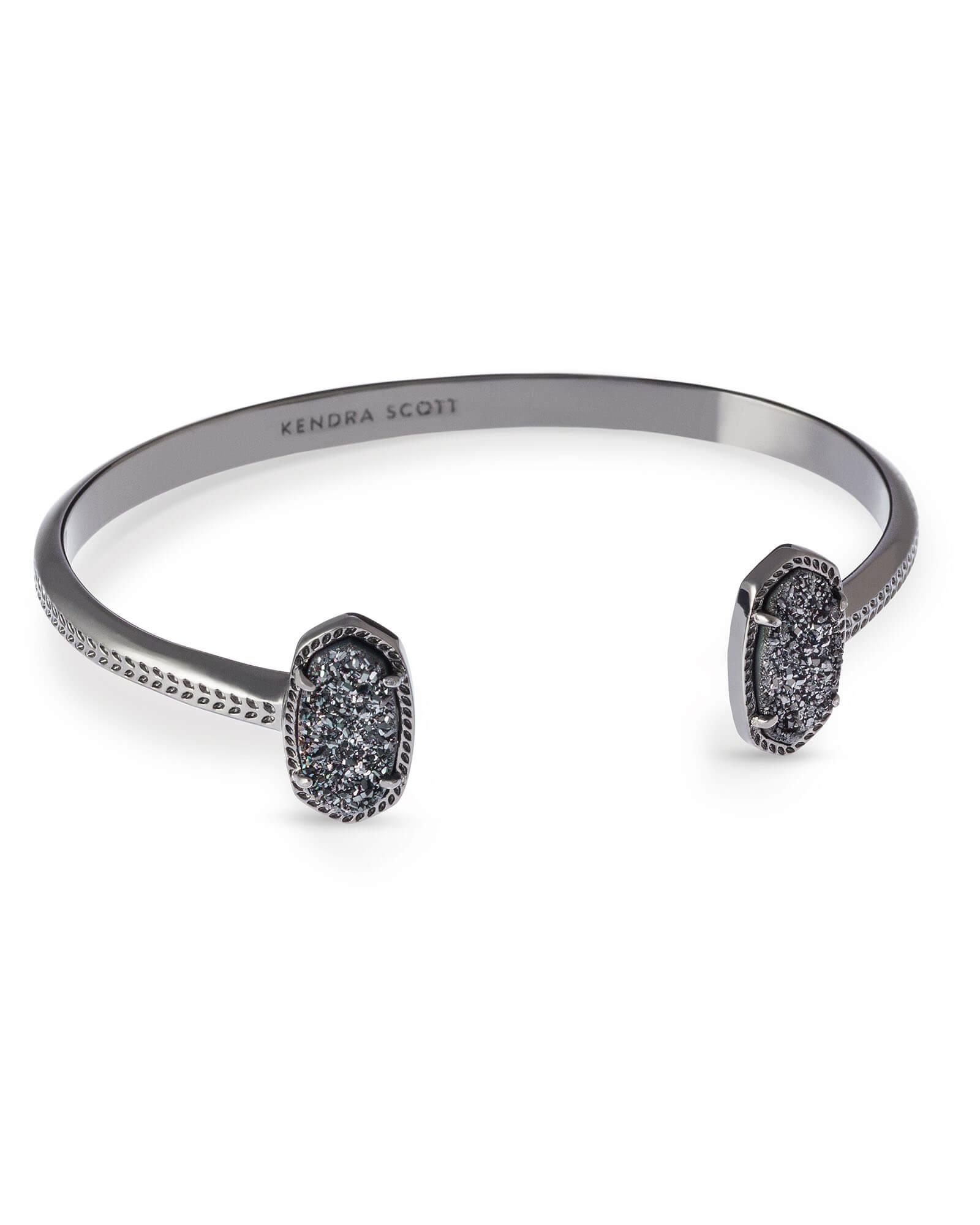 Elton Bracelet In Black Drusy