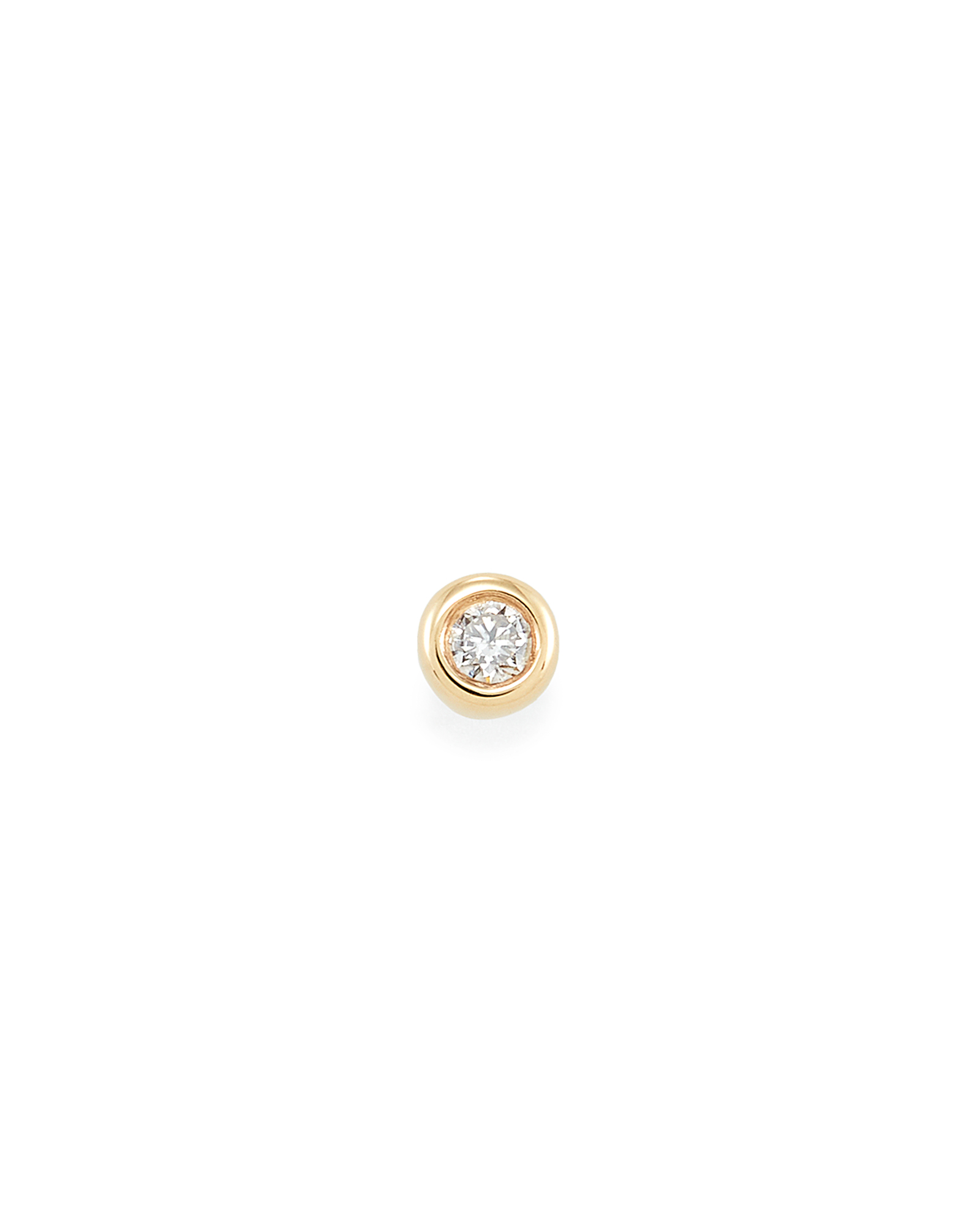 Reeve Mini 14K Yellow Gold Stud Earring in White Diamond