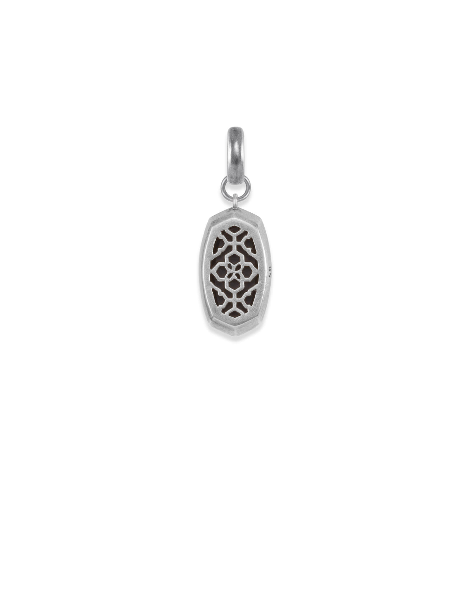 Mood Stone Charm in Vintage Silver
