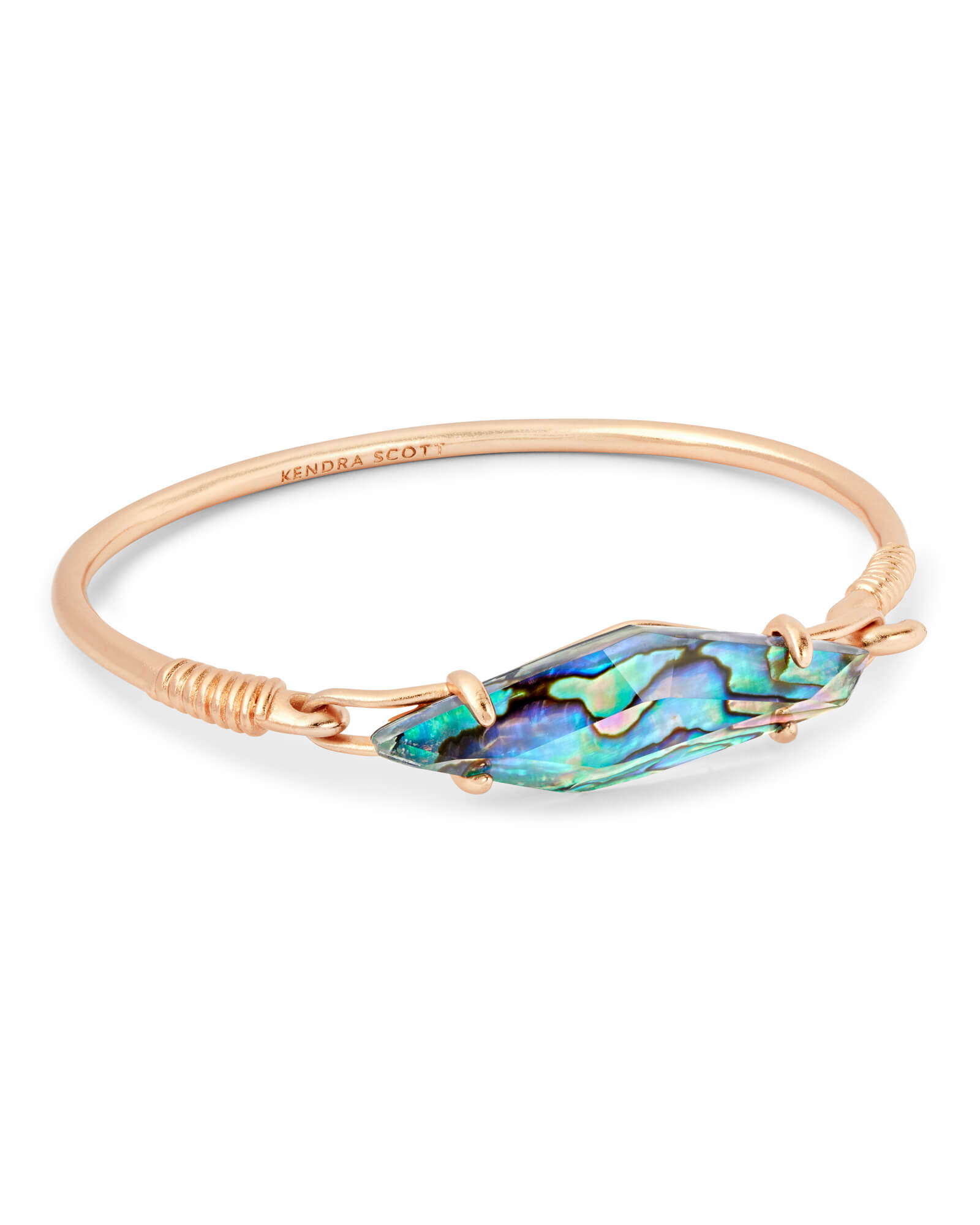 Lawrence Rose Gold Cuff Bracelet in Abalone Shell