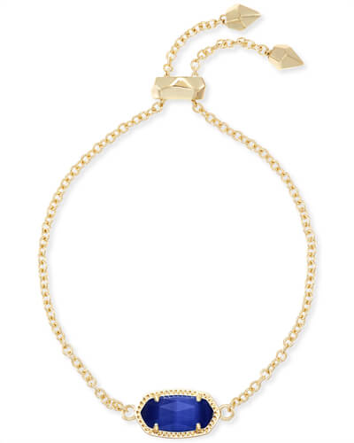 Elaina Adjustable Chain Bracelet in Cobalt Cats Eye