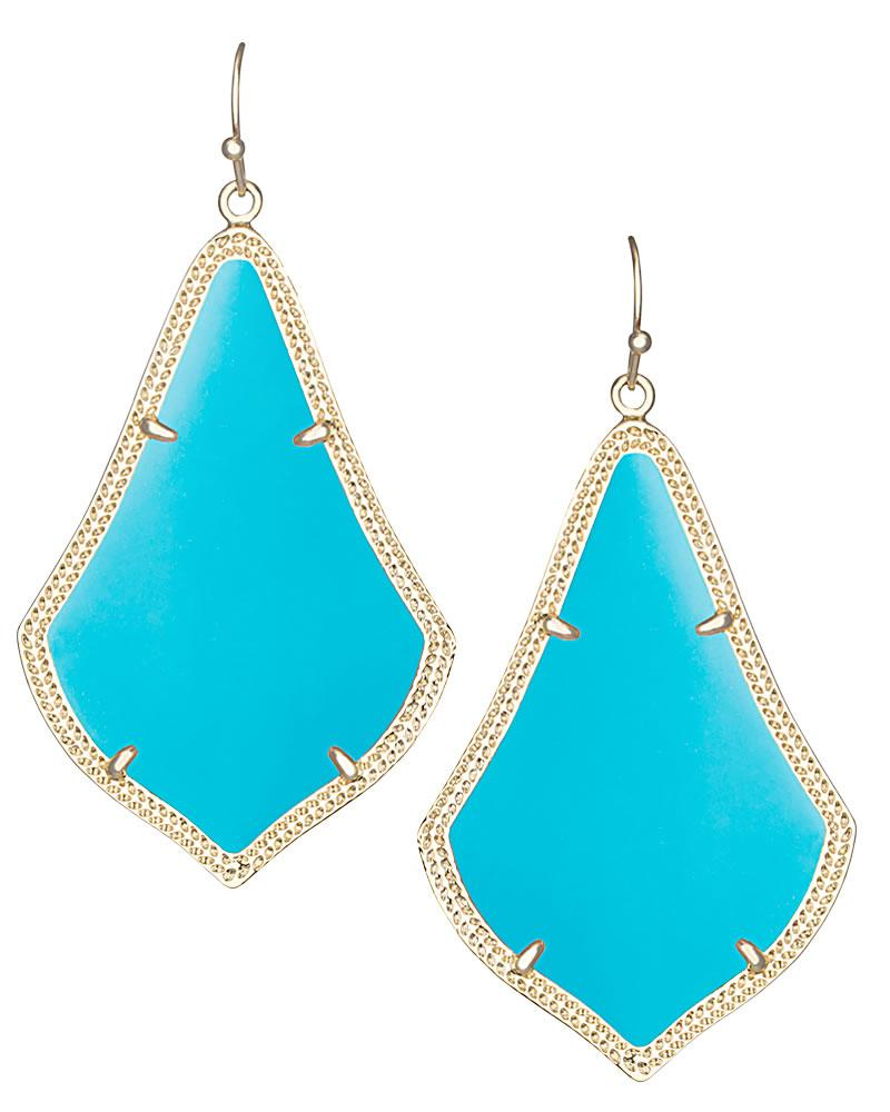Alexandra Gold Earrings in Turquoise