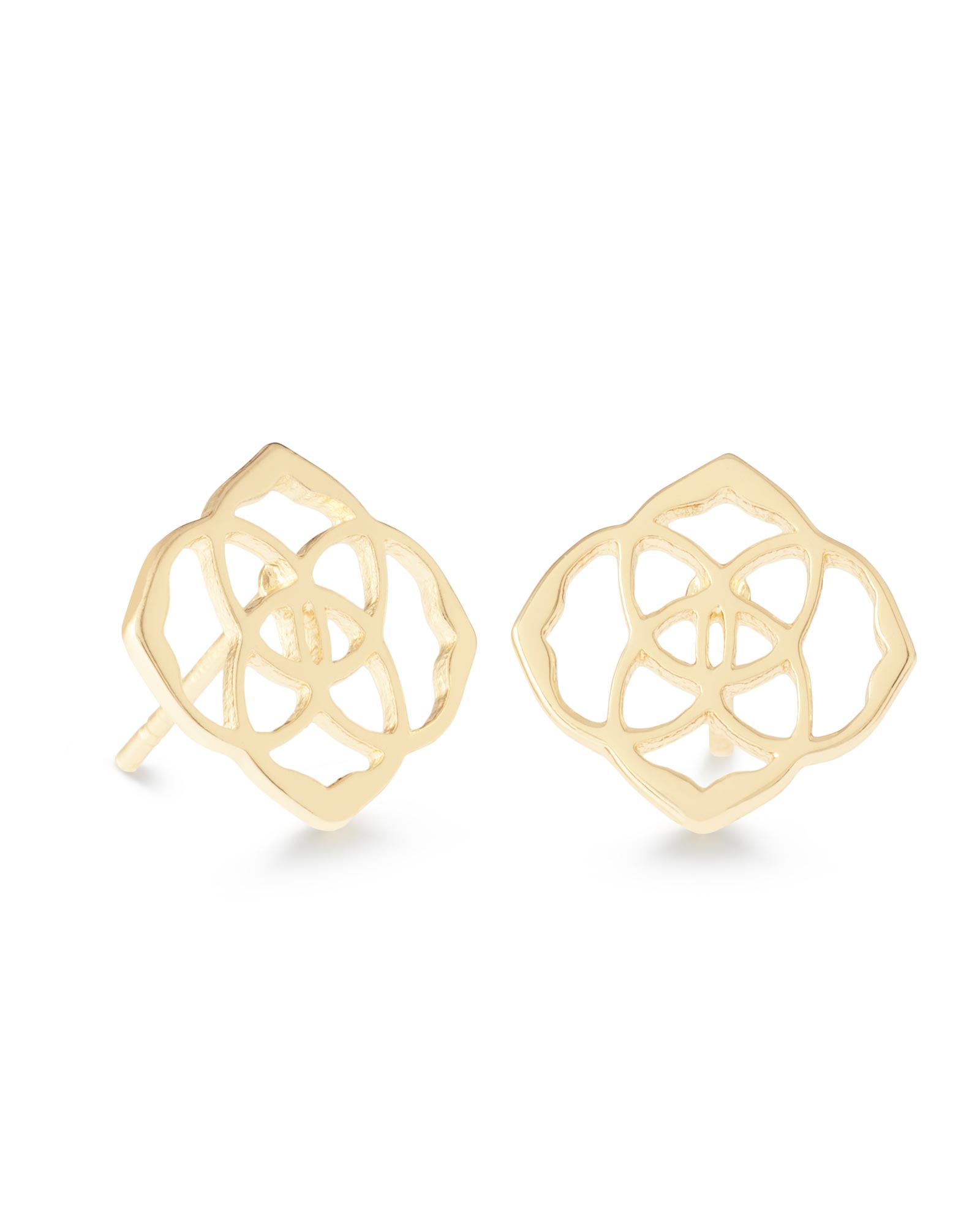 zirconia square women cubic stainless steel earrings stud