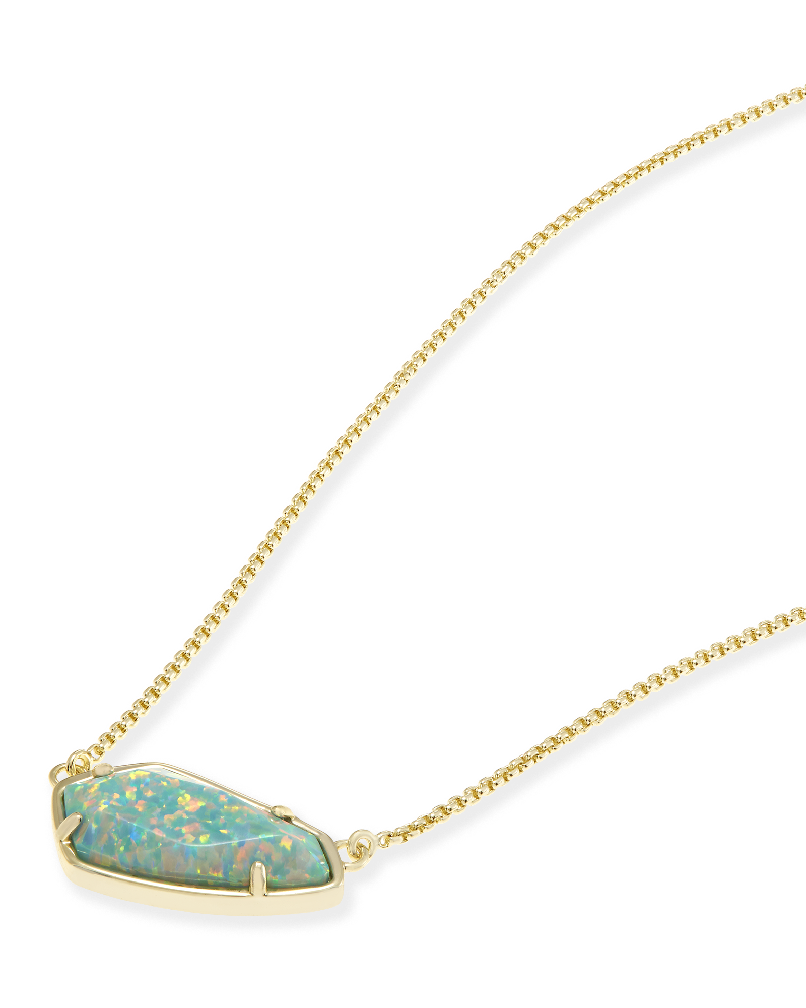 Cami Necklace in Aqua Kyocera Opal