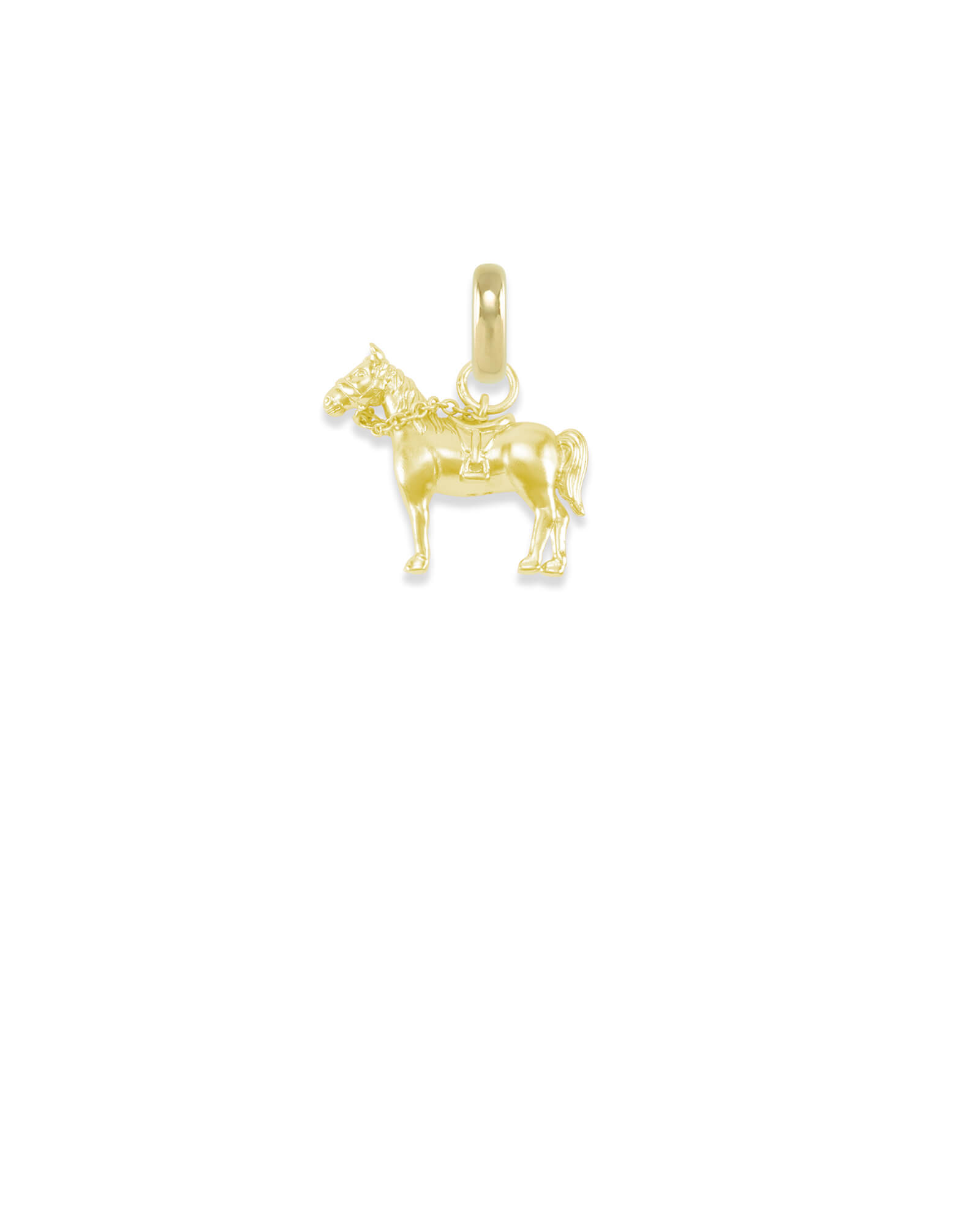 Kentucky Race Horse Charm in Gold