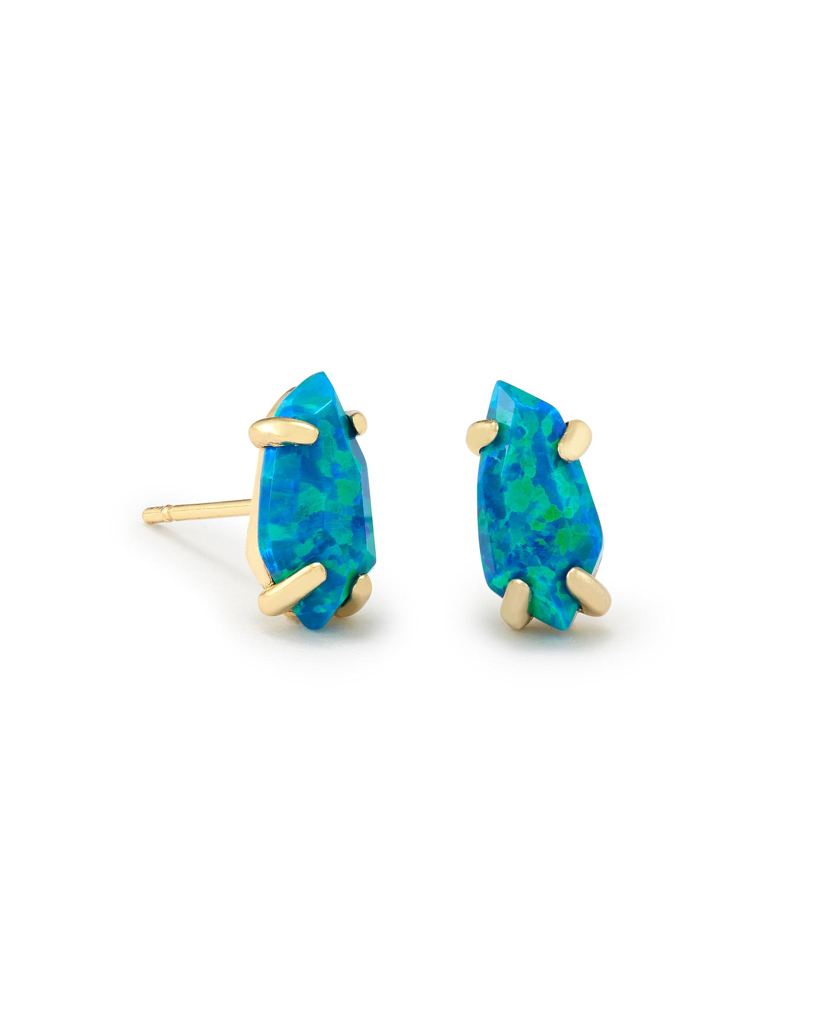 Jillian Stud Earrings in Marine Kyocera Opal