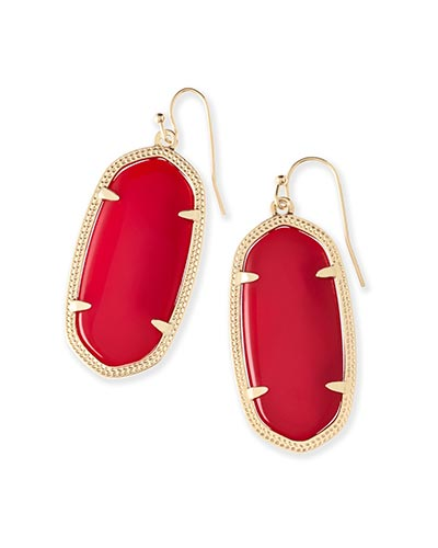 Elle Earrings in Bright Red