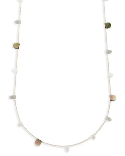 Leola Long Necklace in Neutral Mix