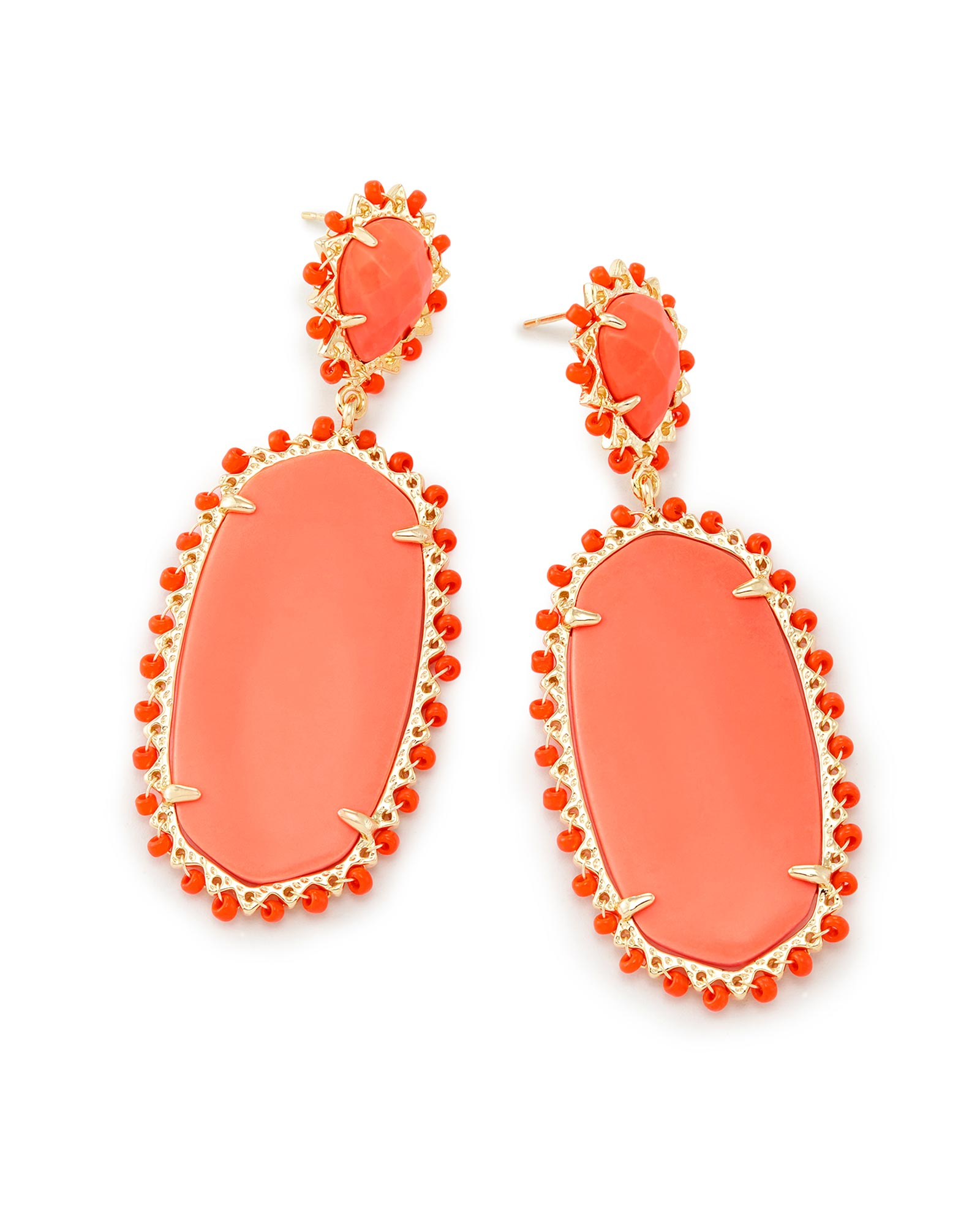 Parsons Statement Earrings in Coral