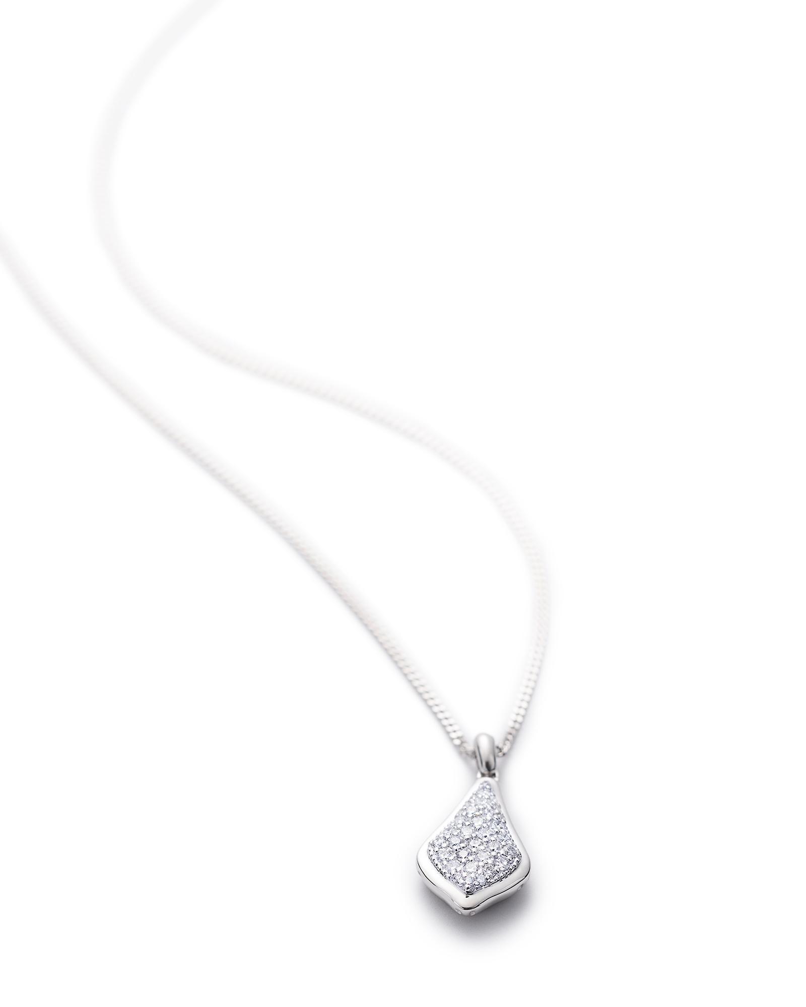 Lela pendant necklace pave diamond and 14k white gold for Kendra scott fine jewelry
