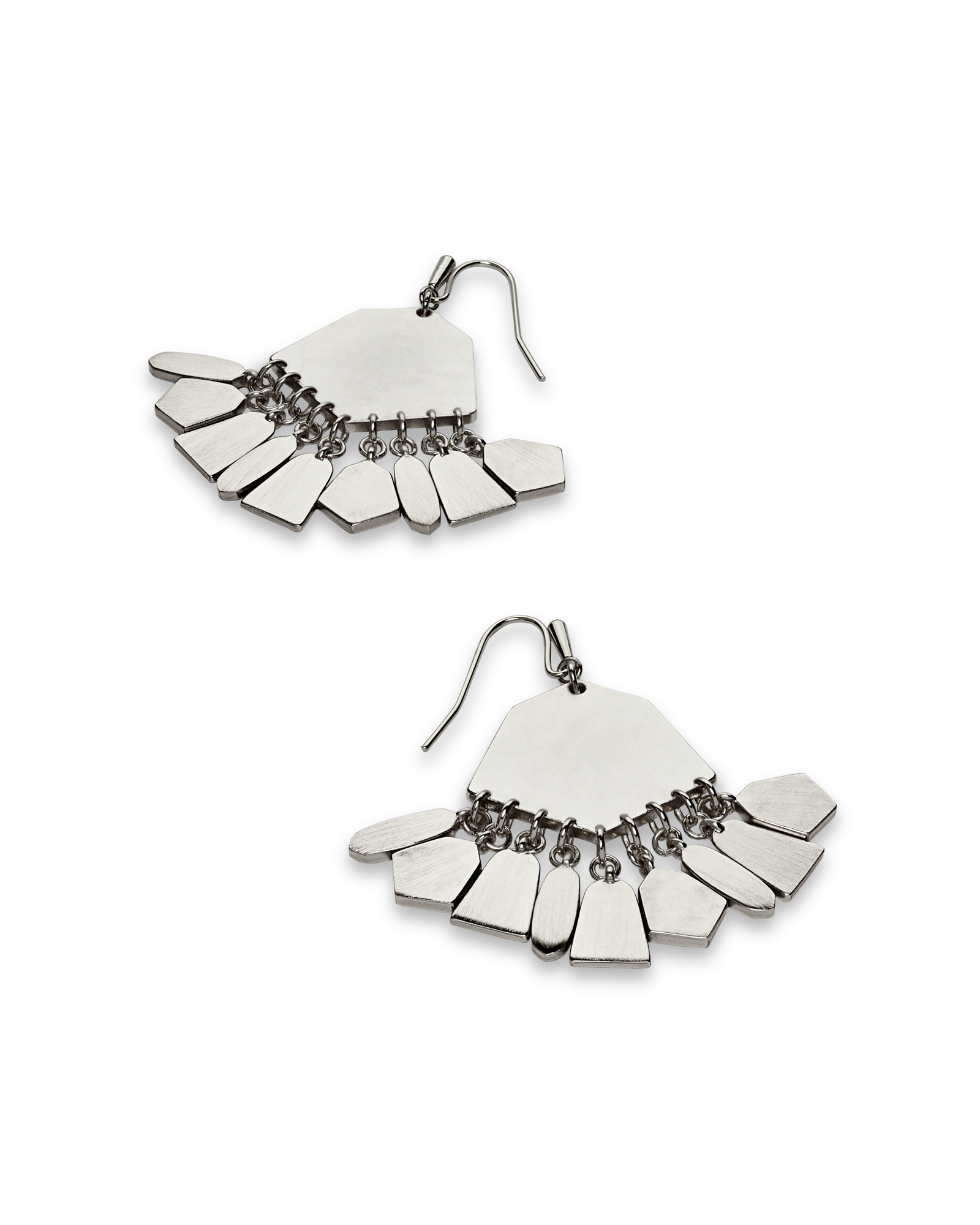 Liz Statement Earrings in Bright Silver