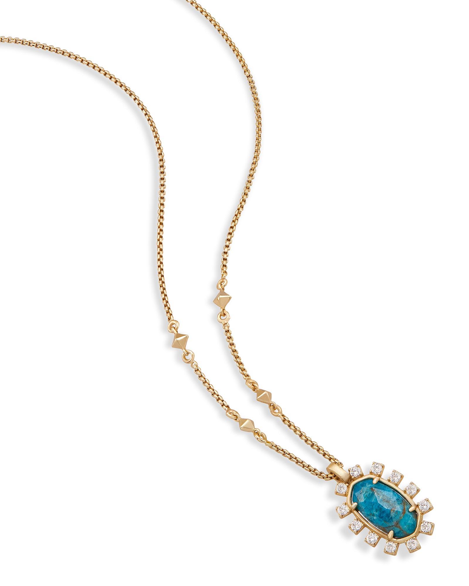 Brett pendant necklace in aqua apatite kendra scott brett pendant necklace in aqua apatite mozeypictures Images