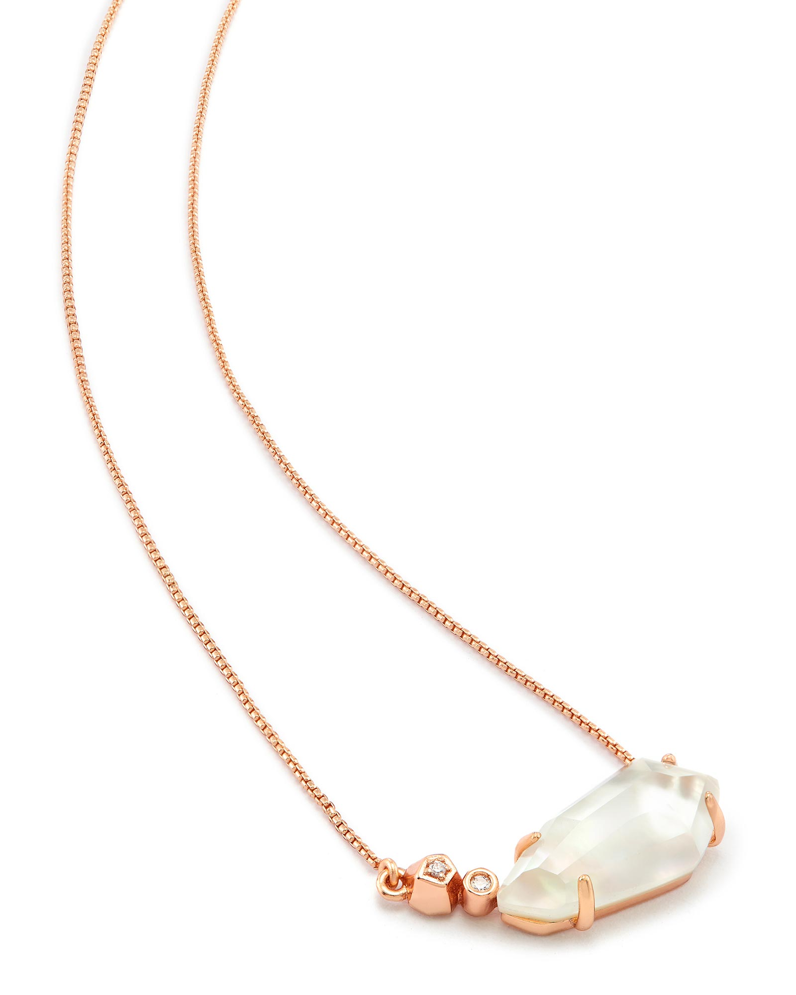 Barbara Pendant Necklace in Rose Gold