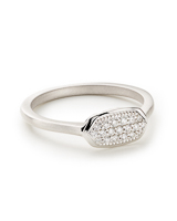 Isa Ring in Pave Diamond and 14k White Gold