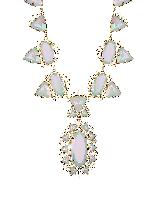 Havana Statement Necklace in White Iridescent