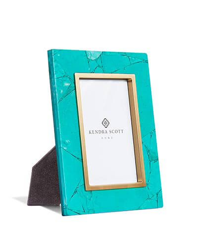 4x6 Photo Frame in Variegated Teal Magnesite