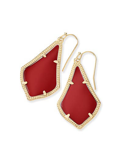 Alex Earrings in Dark Red