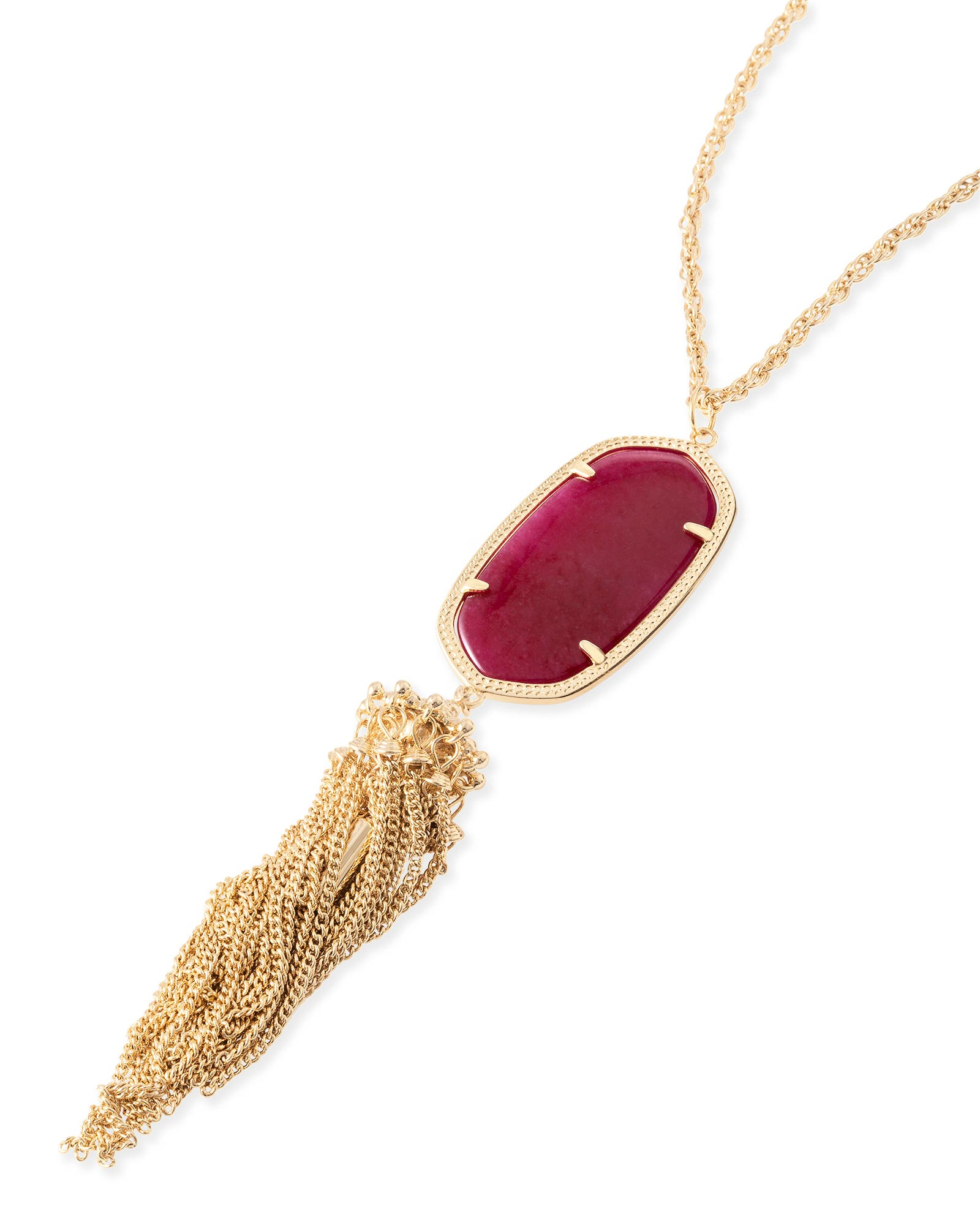 Rayne Necklace in Maroon Jade