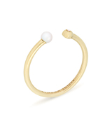 Cathleen 14k Yellow Gold Open Midi Ring in Pearl