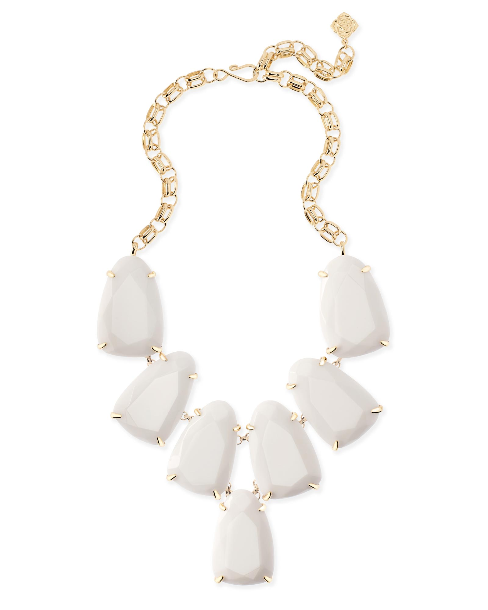 Harlow Statement Necklace in White