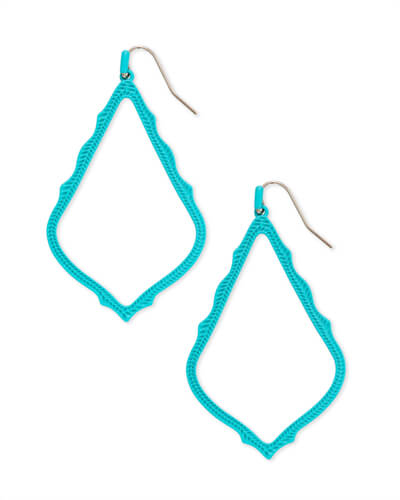 Sophee Matte Drop Earrings in Aqua