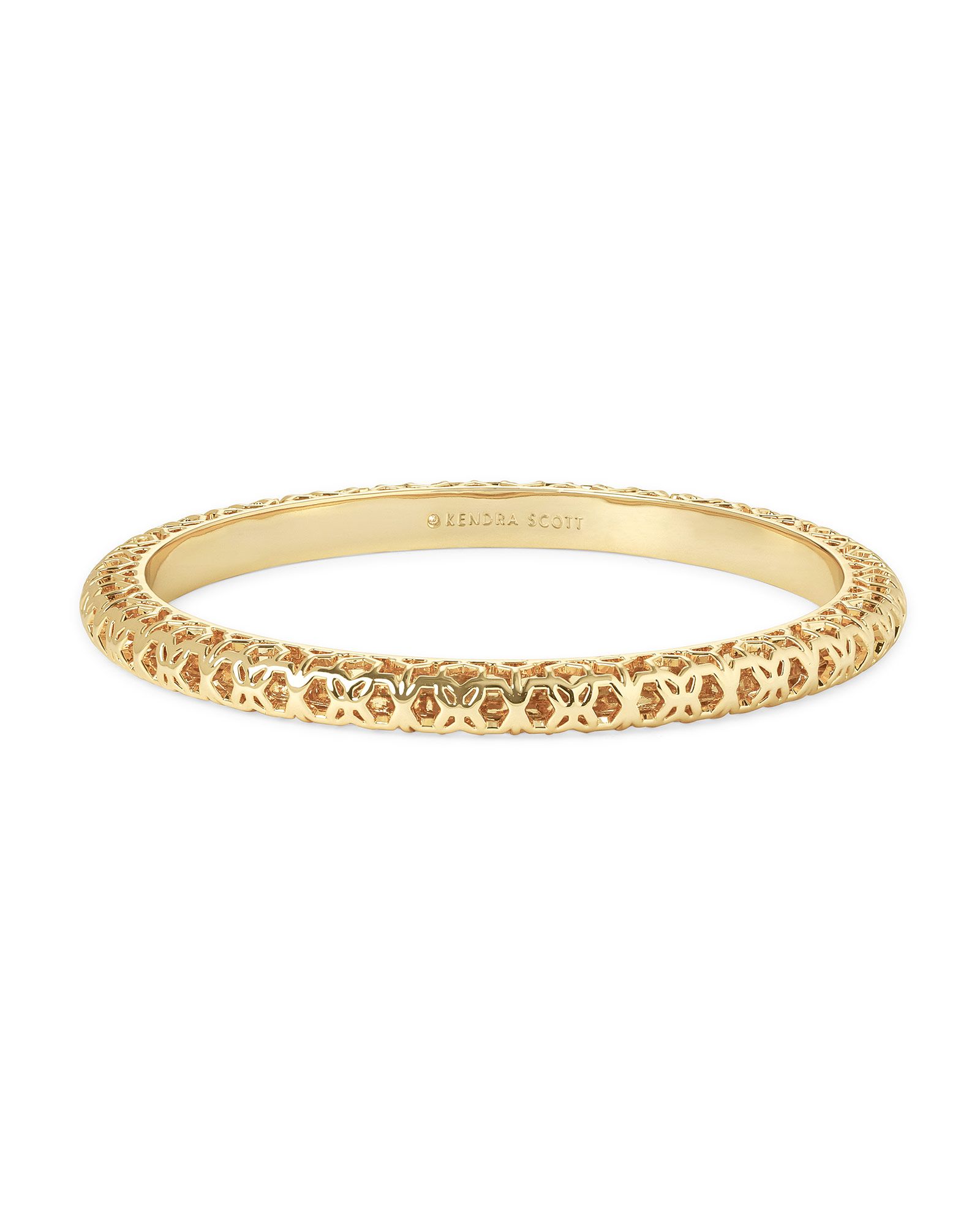 Maggie Bangle Bracelet in Gold Filigree