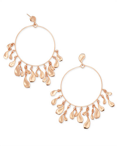 Natasha Hoop Earrings in Rose Gold