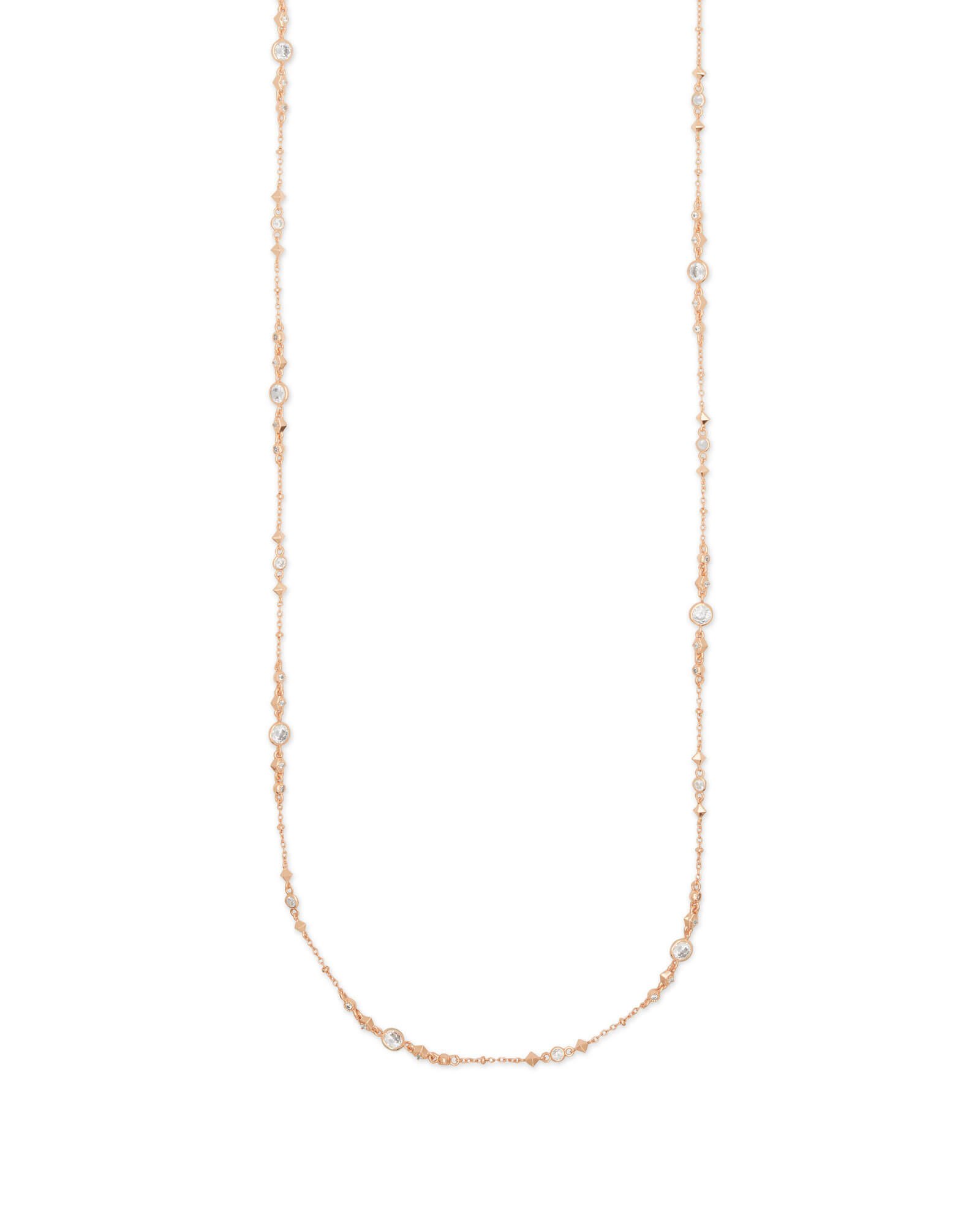 Wyndham Long Necklace in Rose Gold