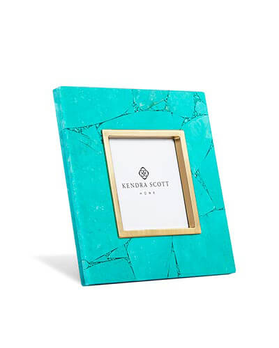 4x4 Photo Frame in Variegated Teal Magnesite
