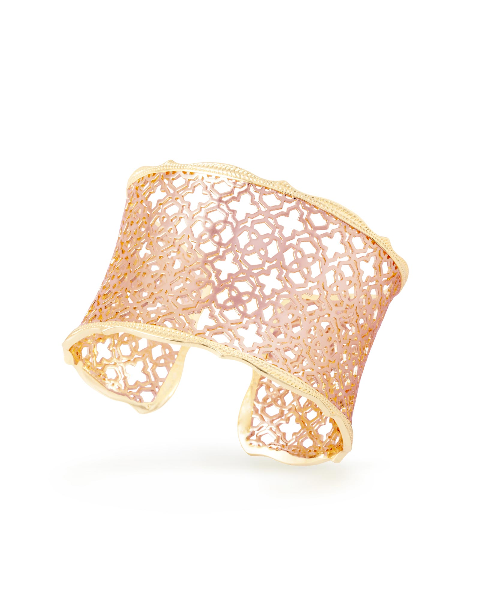 Candice Gold Cuff Bracelet in Rose Gold Filigree Mix
