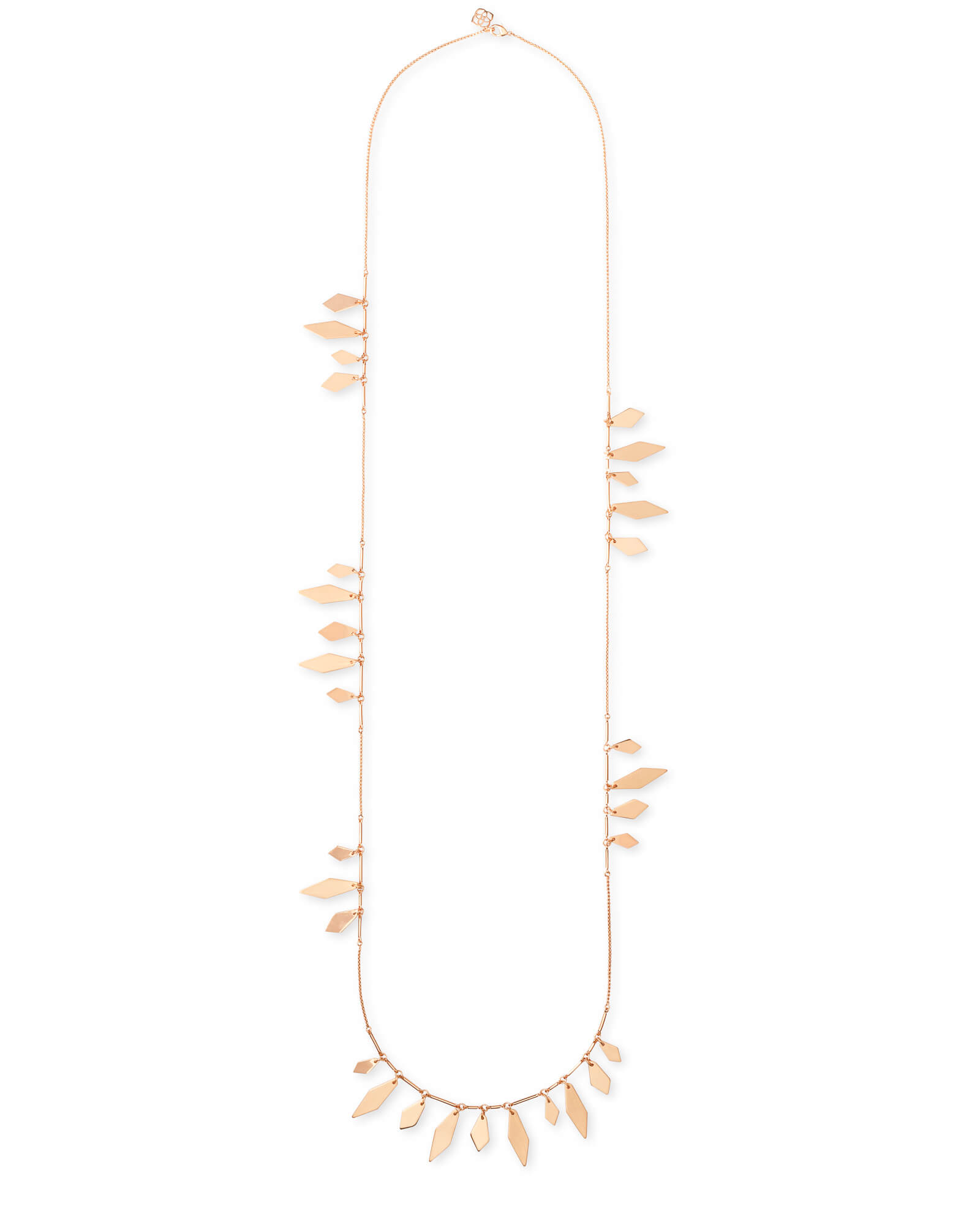 Blaine Long Necklace in Rose Gold