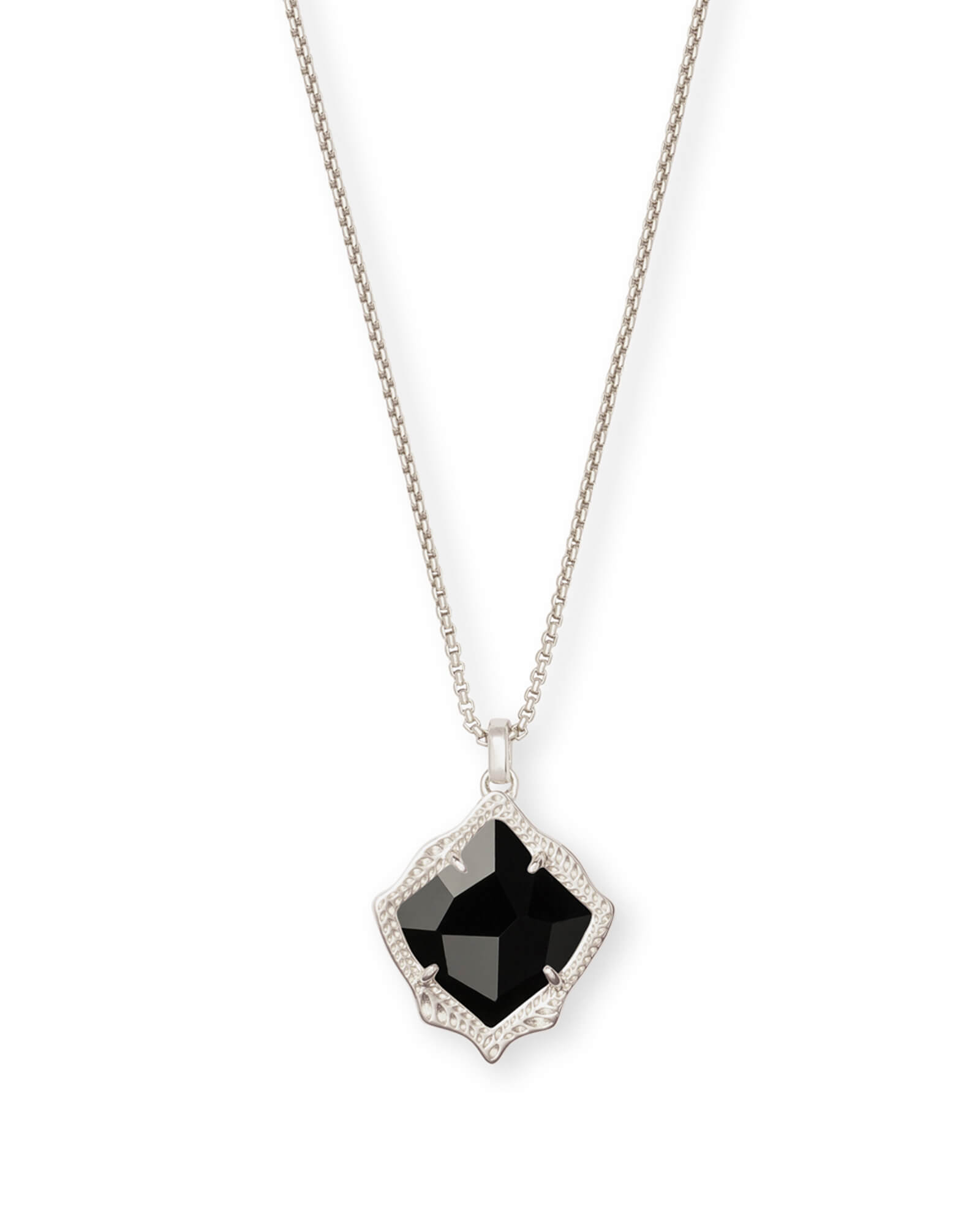 Kacey Long Pendant Necklace in Silver