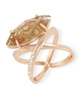Rosemary Ring in Gold Dusted Glass