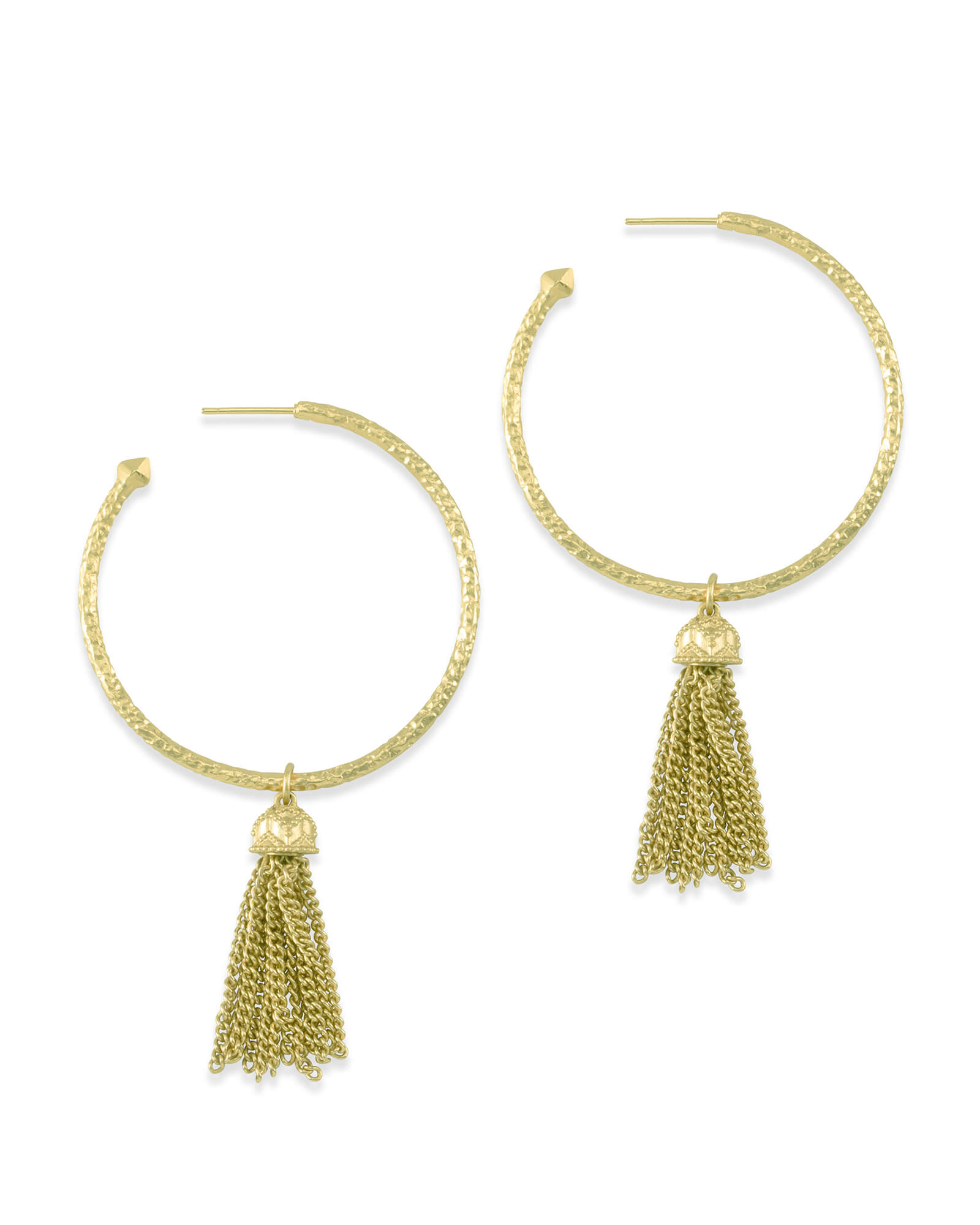 Tassel Charm Hoop Earrings Set