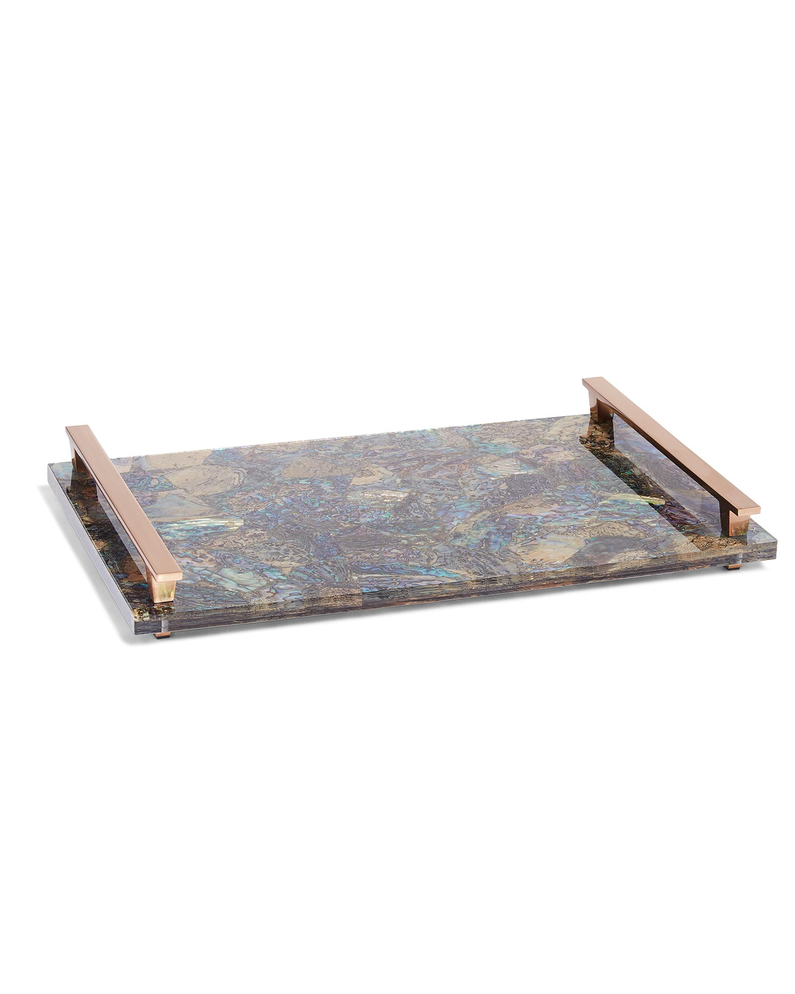 Large Tray in Crackle Abalone Shell