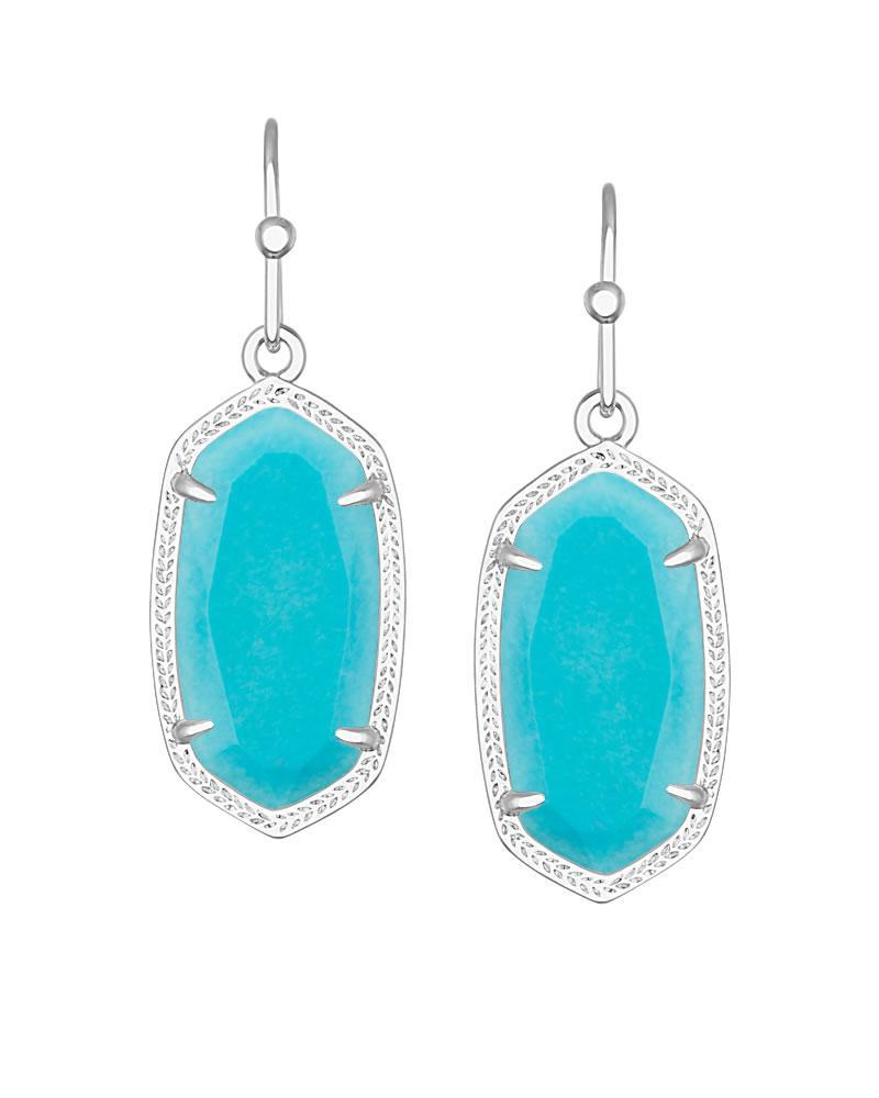 Dani Silver Earrings In Turquoise