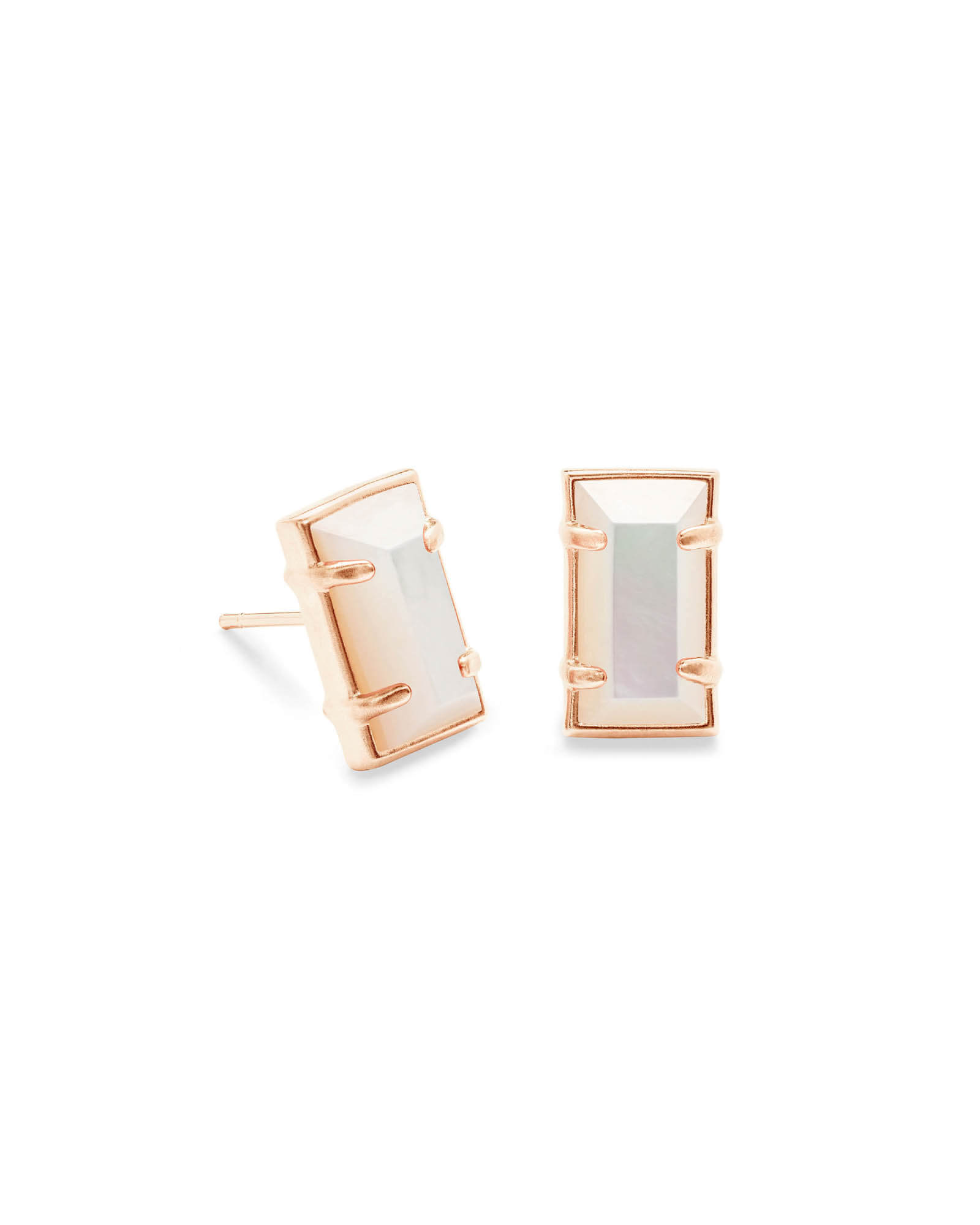 Paola Stud Earrings in Rose Gold
