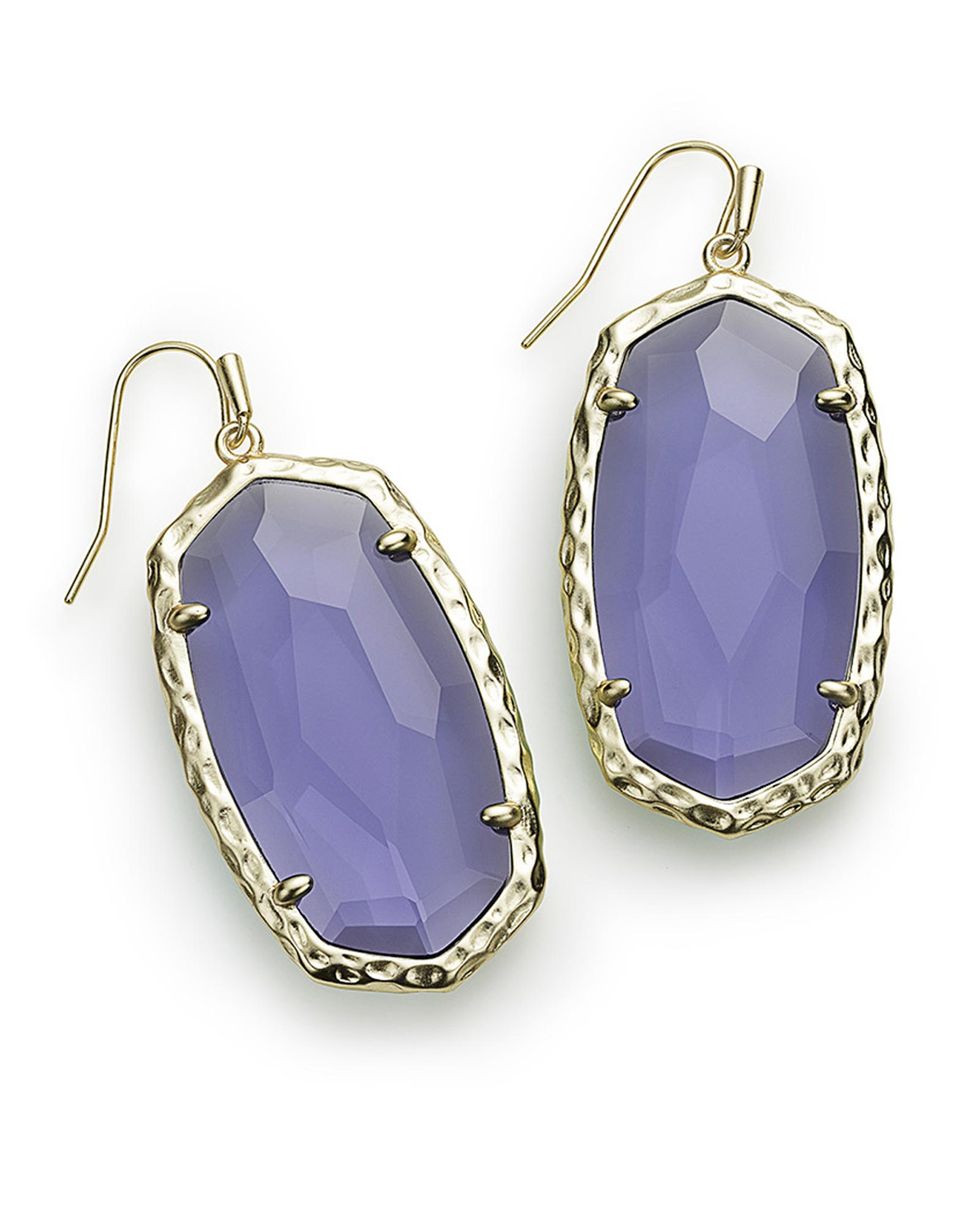 bloomingoak amethyst wire purple design kidney product earrings