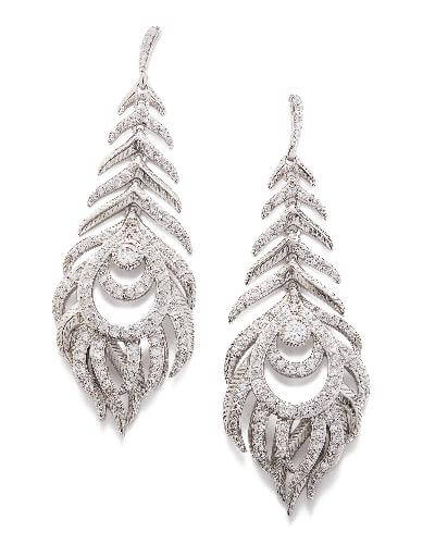 Elettra Statement Earrings in Silver