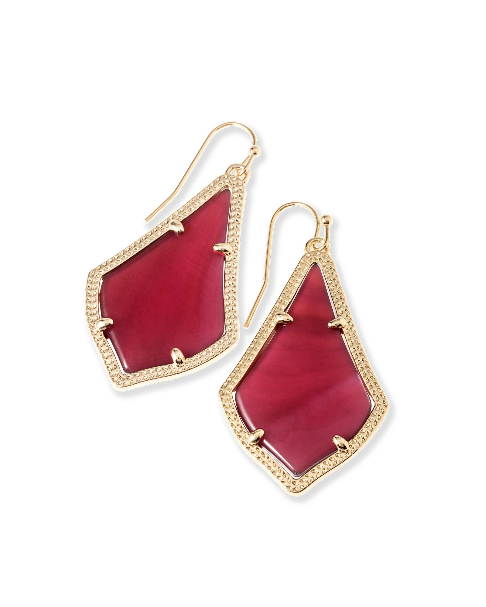 Alex Drop Earrings in Burgundy Illusion