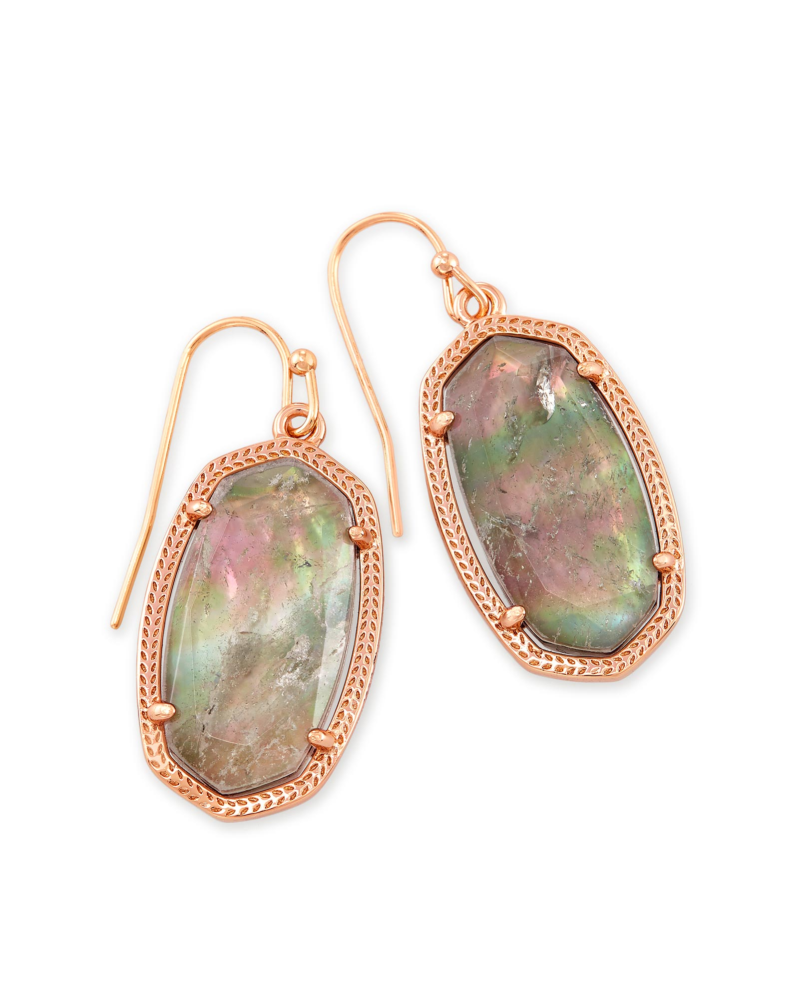 Dani Drop Earrings In Crystal Gray Illusion