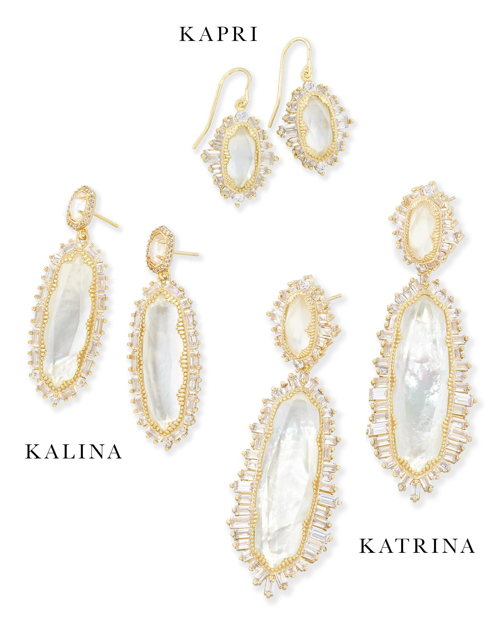 Kalina Statement Earrings in Gold