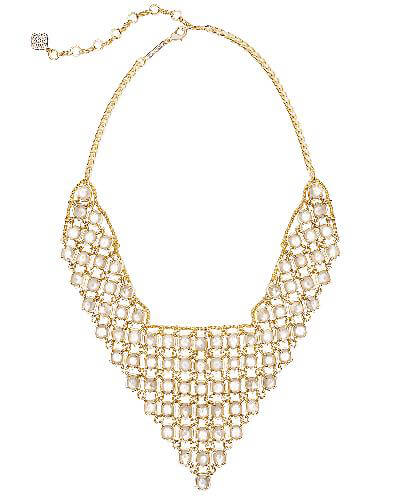 Giada Statement Necklace in Ivory Pearl