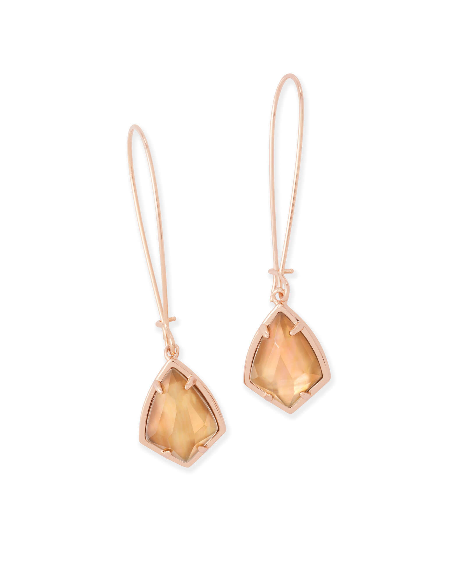 Carinne Drop Earrings in Rose Gold